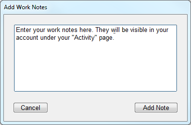 adding notes in hubstaff